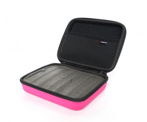 Portable hard carrying with foam gopro casey storage case