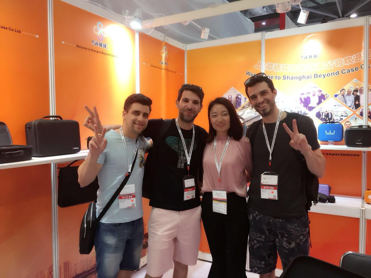 SHBC Team at HongKong Mobile Electronical Shows