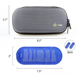 SHBC Insulin Cooler Travel Case For Diabetic Organize Medication Insulated Cooling Bag with 2 Ice Packs GRA